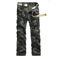 Erkek Pantolon Erkekler Kamuflaj Kargo Erkek Rahat Cepler Pantolon Dış Giyim Ordusu Baggy Joger İşçi Erkek Camo