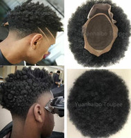 Afro Hair Mono Lace Toupee for Basketbass Players and Fans M...