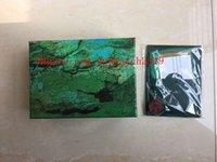Verde 5pcs Melhor escuro Qualidade Watch Box presente Capa Para Relógios Cartão Booklet tags e artigos em inglês suíço Relógios Boxes