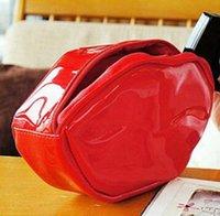 크리 에이 티브 입술 메이크업 가방 여성 핸드백 대용량 화장품 가방 패션 접착 PU 변경 지갑