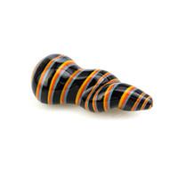 Tubulações coloridas torcidas da colher das listras da espiral de 4 polegadas para o uso de fumo do tabaco