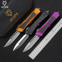 Kostenloser Versand, hochwertige Vespa-Klinge: S35VN Satin (S / E.D / E), Griff: Aluminium + Kohlefaser, Outdoor Camping Survival Messer EDC-Werkzeuge