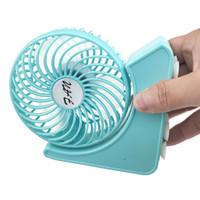 Taşınabilir Lityum Pil ile Şarj Edilebilir Katlanır Fan USB Şarj Serin Çıkarılabilir Dönen El Mini Açık Fanlar Cep Katlanır Fan