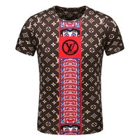 2019 Summer Hip Hop Men' s Short Sleeve StylPrinted Shor...