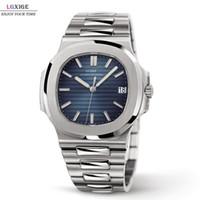 LGXIGE Uhrmens Top Brand Luxus voller Stahl Militär Armbanduhr Männer 30m Wasserdicht Geschäft Luminous-Quarz-Taktgeber 2019 LY191226