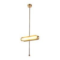 Oro LED Luz pendiente moderna magia girada Suspensión en Casa Arte colgante de la lámpara de techo Decoración Fixture PA0133