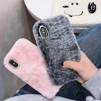 Cassa alla moda Fashion Girl per iPhone XS Max XR X 11 Pro regalo TPU Furry soffice caldo Cover per iPhone 6 7 8 6S Telefono Caso Soft Plus