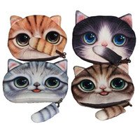 3D الحيوان الوجه زيبر حالة القط لطيف عملة المحفظة BOLSAS الإناث أفخم محفظة / محفظة الطفل ماكياج عربة سماعة الحقيبة حقيبة بولسا الأنثى هدية