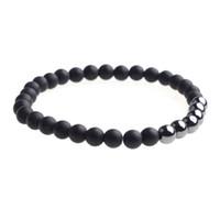 Bracelet aura rond fait main de pierres précieuses 6mm 7-9 pouces unisexe petit et délicat