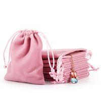 Новые Бархатные ювелирные изделия Шнур для шнурка Подарочные пакеты Розовый Ледяной серый Пыленепроницаемый Косметический футляр для хранения Ремесла Упаковочные мешочки для бутик-магазина