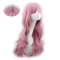 Modèles d'explosion Factory Direct Mode Filles Air Bangs longs cheveux bouclés perruque Big Head cuir Pear Hanamaki perruque