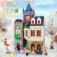 ZHEGAO QL0924 4030 stücke Ersteller Streifenansicht Serie MOC Brickstive Altstadt Pub Bausteine Ziegel Spielzeug Kinder Geschenke