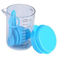 7 Pçs / set Copos De Medição De Plástico E Colheres Medida Chá Utensílio De Cozinha De Café para Ferramentas de Cozimento Ferramentas de Cozinha Bakeware