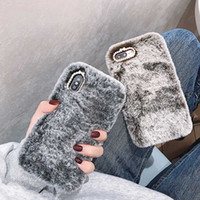 Moda Furry fluffy Custodia per iPhone 11pro Lady Regalo TPU Copertura Calda Con Diamante di lusso per iphone 8 Più 6 s 7