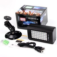 مصغرة RGB 45 LED ديسكو دي جي المرحلة الخفيفة 23W الصوت المنشط ستروب المرحلة الإضاءة الكريسمس حزب أضواء USB ملون / أبيض ضوء فلاش