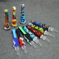 Kit de Silicone NC de cachimbo de cachimbos com pontas de quartzo DAB palha para plataformas de fumo