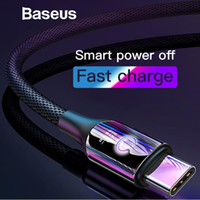 Baseus Smart Changer Breathe Lighting Cavo USB tipo C Supporto 3A Fast Charging per Samsung Galaxy Note 9 s9 Plus Tipo C Dispositivi