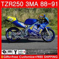 Corps pour YAMAHA TZR-250 3MA TZR250 88 89 90 91 118HM.30 TZR250RR TZR250 RS RR YPVS TZR 250 brillant bleu chaud 1988 1989 1990 1991
