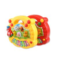 Bright Color Musical Keyboard Toys Baby Educational Animal P...