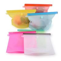 1000 мл многоразовый пищевой Силиконовый мешок герметичные контейнеры мешки для хранения пищевых продуктов 1л морозильник дата закуски сумки OOA8107