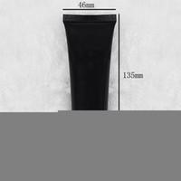 100PCS 검은 색 플라스틱 크림 치약 튜브 빈 화장품 샘플 미니 소형 컨테이너 병 포장 50ML