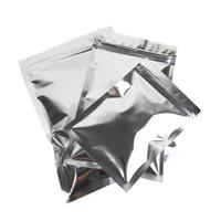 10x15cm cerniera Bone Borsa di chiusura Tasche fondo piatto fotoprotettivo alluminio sigillato Pocket Opaco