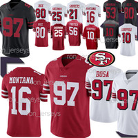 97 трикотажные изделия Bosa San Francisco 49er 10 Jimmy 10 Garoppolo 80 Jerry Rice 16 Montana 56 Foster 25 Sherman Нью-Джерси