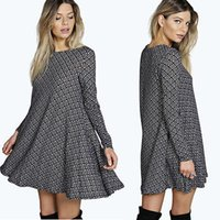 2016 nouvelle mode des femmes robe à manches longues Robes Invierno Mujer Robe sexy femme