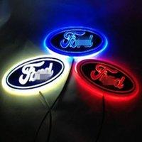 4D LED Auto Schwanz Logo Licht Abzeichen Lampe Emblem Aufkleber Für Ford Logo Dekoration