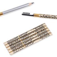 توافر أحدث ماكياج قلم الحواجب Leopard 5 ألوان من البني الأسود بني فاتح بني داكن Brow Liner Leopard قلم الحواجب