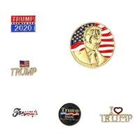 Trump Spilla di moda 6 stili 2020 Shiny American Flag Spilla Patriottica repubblicano campagna Pin favore della festa commemorativa Spilla T2C5229