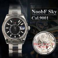 Sky Dweller Rolex NoobF fabbrica migliore della versione 42 millimetri Nero Sky Gmt Time Zone Dweller Data 326934 Perpetual Orologi Cal.9001 Automatic Mens Orologi da polso