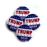 Atout 2020 Insigne Insigne métallique 2020 Épingles en fer blanc Amérique Président Campagne républicaine Broche Manteau Bijoux Broches GGA2319