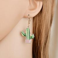 Il nuovo modo in lega di zinco Long temperamento di personalità Cactus ciondola gli orecchini per le donne femminile gioielli E1875