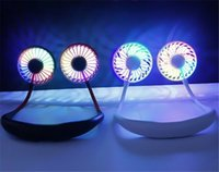 Katlanabilir Boyun Bandı Mini Boyun Fan USB Kamp Spor Turizm için Soğutma LED Boyun Fan En Iyi Hediye Çocuklar Yaz Soğutucu Yenilik Öğeleri