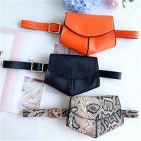 Snake drucken Frauen Taille Tasche Outdoor Frauen Gürtel Münze Brieftasche Geldbörse Herz Kreative Form Multi Farbe Hohe Qualität 18JSH1