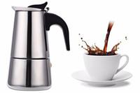 2/4/6/9 Copas Cafetera olla de acero inoxidable Mocha Latte Espresso quemadores Filtro Moka Cafetera Cafetera para la cocina Z20