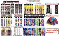 Mescolare Tipi Pro-Confezioni Rotoli di Barewoods Joke fino Runtz Moonrock Dankwoods Potheads Cure Giunti preroll tubo Imballaggio packaging personalizzato