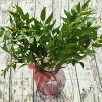 Fiesta de la boda de Navidad Planta artificial verdes hojas de sauce rama seda artificial decoración del hogar del sauce blanco rojo de la vid VT0962