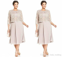 2019 Elegante Madre Della Sposa Vestito Da Sposo Con Jacklet di Alta Qualità Chiffon Pizzo Abito Da Sposa Formale Plus Size vestido de madrinha
