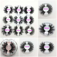 25 mm langes 3D Mink Wimpern Private Label Logo Mink Wimpernverlängerungen Dramatische dicke Mink Wimpern Grausamkeit freie flauschige natürliche falsche Wimpern