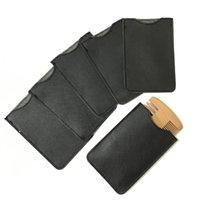 4 ألوان المحمولة مشط PU حقيبة جلدية القضية لحية العناية مشط فرشاة الشعر مشط رجال حار بيع