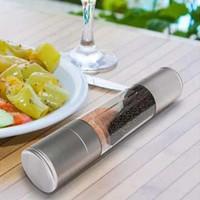 Moedor de pimenta 2 em 1 aço inoxidável manual de Sal Pepper Mill Grinder Spice Cozinha Ferramentas Acessórios para cozinhar