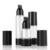 15 ml 30 ml 50 MLLClassic Siyah Vakum Havasız Pompa Şişe Kozmetik Özü Yağ Losyonu ambalaj Doldurulabilir Şişe F2017486