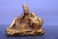 الصين قديم النحاس تمثال جي قونغ يجلس تمثال بوذا النحاس