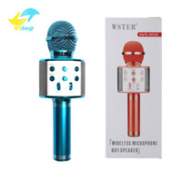 Vitog WS858 بلوتوث الكاريوكي ميكروفون لاسلكي المهنية consender المتحدث المحمولة راديو microfone سجل ميكروفون استوديو الميكروفون