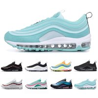 Nike Air Max 97 shoes Laser Fuchsia UNDEFEATED triplo branco mens running shoes persa Violeta Prata Bala Brilhante Citron Homens mulheres sports Sneakers 5.5-11