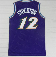 Homens Retro Basketball Jersey 33 Pássaro Johnson Stockton Karl Malone Jason Williams Ewing Gary Payton Kemp Barkley Boakley Maillot de cesta