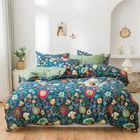 Blossom Sunflowers Sheet Duvet Cover Twin Full Queen size 4P...