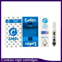 Top qualità Cookies Cartuccia Vape con Display Box 1.0 0.8ml ceramica Coil oro bianco 510 Carrelli della discussione per Thick Oil 0.266.273